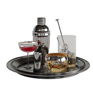3D Cocktail decor set 1