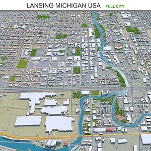 Lansing Michigan USA 3D model