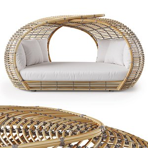 amber day bed 3D model