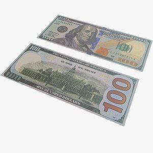3D Money One Hundred Dollar With PBR 4K 8K
