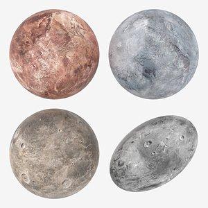 Dwarf Planets Ceres Eris Makemake Haumea 3D model