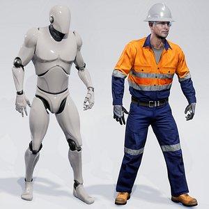 3D model Workman Mining Safety Glen UNREAL UE4