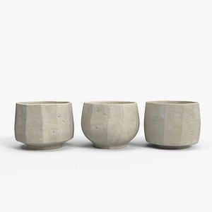 Clay Cups 3D model