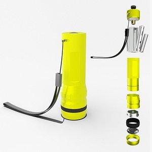 3D model Flashlight Yellow