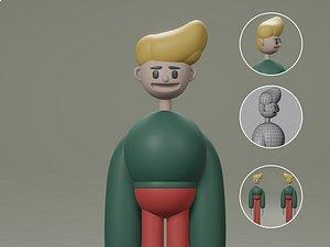 3D Male cartoon characters base mesh