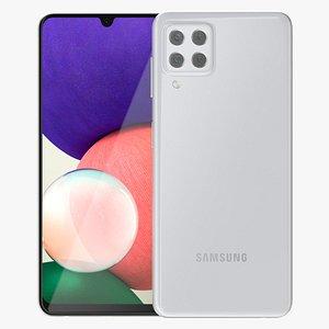 Samsung Galaxy A22 White 3D model