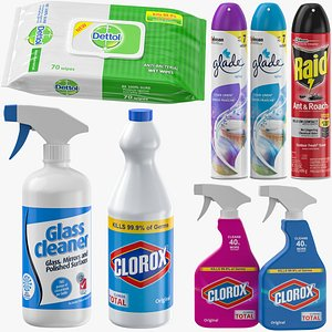 Cleaning Supplies Collection 3D