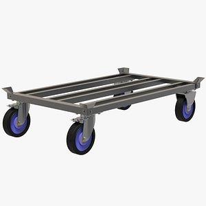 3D model Pallet Roller Platform