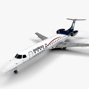 3D AEROMEXICO  EMBRAER ERJ 145 L1361 model