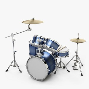 drum percussion drumset 3D model