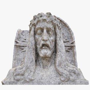 jesus head statue model