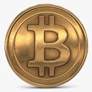 3D model Gold Bitcoin