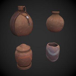 Clay Jars 3D model