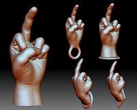 Middle finger fuck you flip off bird hand gesture 3D printable model
