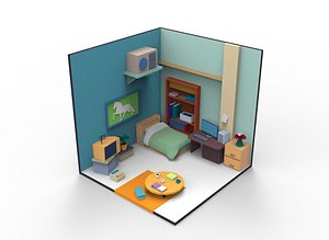 cartoon room 1 3D