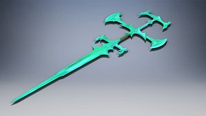 League of Legends. Sword of the ruined king viego.  3D model