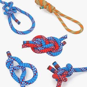 rope knots 2 3D model
