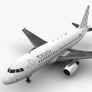 AirbusA319-100CROATIA AirlinesL1418 3D model