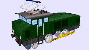 electric locomotive e60 3D
