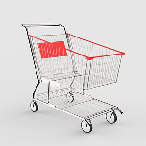 3D Shopping Trolley Large