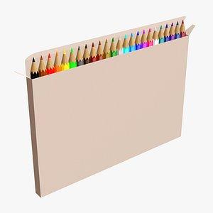 pencil box color 3D