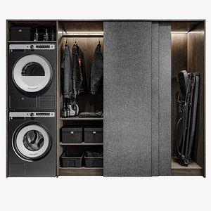 3D ironing dryer cupboard