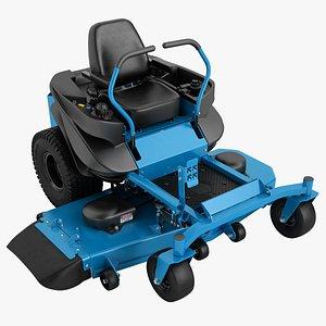 3D riding lawn mowers