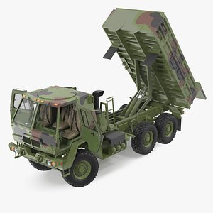 Oshkosh FMTV 10 Ton Dump Truck Camo Rigged 3D