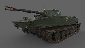 3D Soviet Tank PT-76