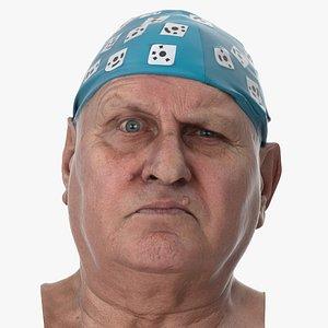 3D Homer Human Head Outer Brow Raiser Right AU2 Clean Scan model