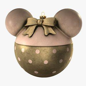 christmas ball minnie mouse 3D model