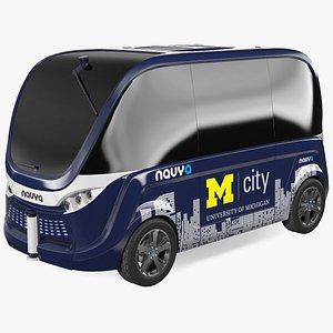 Driverless Bus Navya Arma Exterior Only 3D