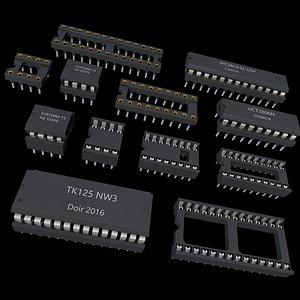 3D chip circuit ic model
