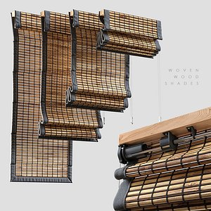 3D model woven wood shades