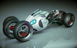 T Bike 3 3 Wheel 02 model