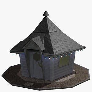 3D Outdoors BBQ hut model