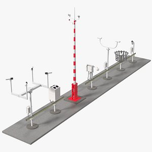 3D Automated Weather Observing System Set