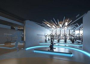 3D Sci-Fi Gym Tech Sense Spinning Exercise