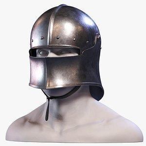 sallet medieval helmet 3d max