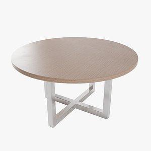 3D table pbr metalic model