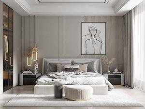 Modern Style Bedroom - 509 3D model