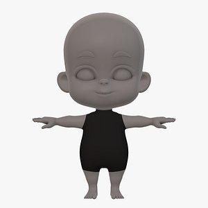 3D baby v01 model