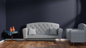 interior minimalist 3D model