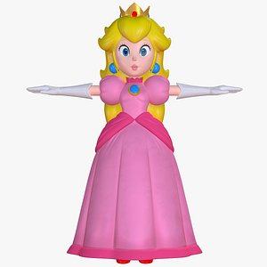 3D Princess Peach Character Super Mario Sparks of Hope