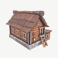 Cartoon House Low-poly 3D model