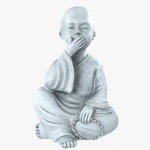 buddha statue boy 3D model