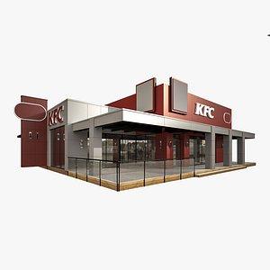 kfc restaurant drive 3D model