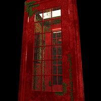 England iconic phonebooth with mosses