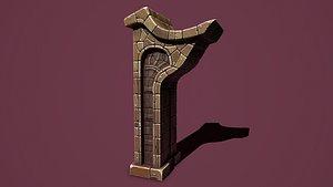Fantasy main obelisk model