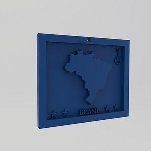 3D Bolivia-Bulibya Map Print model